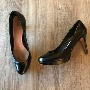 Vince Camuto Patent Leather Round Toe Pumps